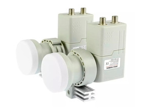 Lnb Carona 2x2 4 Saídas Duplo C/ Haste Aluminio Receptor