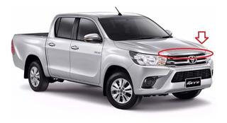 Moldura Capot Cromada Toyota Hilux 2016 Original