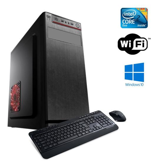 Cpu Em Promoção - Core 2 Duo 8gb Hd 500 Ssd 120 Win10 + Dvd