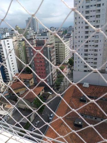 Kitnet Com 1 Dormitório, 1 Wc, 30 M Da Praia.  À Venda, 27 M² Por R$ 145.000 - Centro - São Vicente/sp - Kn0283