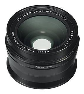 Lente De Conversion Ancha Fujifilm Wclx100 Ii Negro 1653472