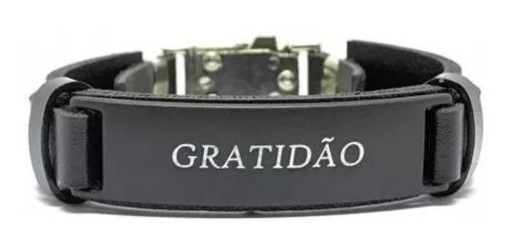 Pulseira Bracelete Gratidão Preta