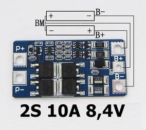 Proteção 2s Bms Bateria 18650 Li-ion 10a Frete 10,00 Reais