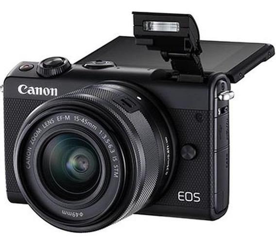Câmera Canon Eos M100 C/ Lente 15-45mm 24,2 Mp