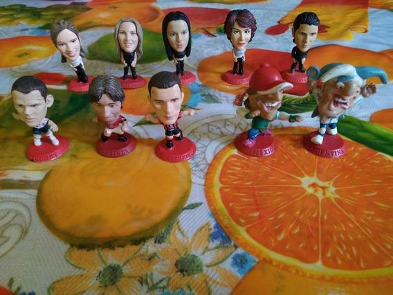 Lote 10 Pz. De Cabezones Coca Cola De Artistas Y Futbolistas