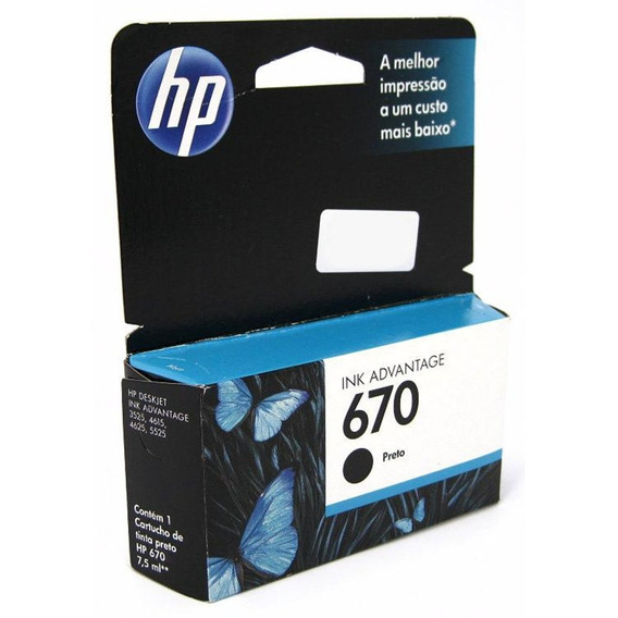 Cartucho De Tinta - Hp 670 Ink Advantage - Preto - Cz113ab