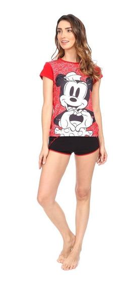 Pijama Para Dama Minnie Mouse Disney Short Y Playera 8061