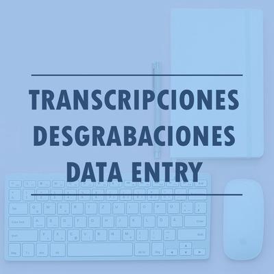 Desgrabaciones Audio A Texto / Tipeos / Data Entry