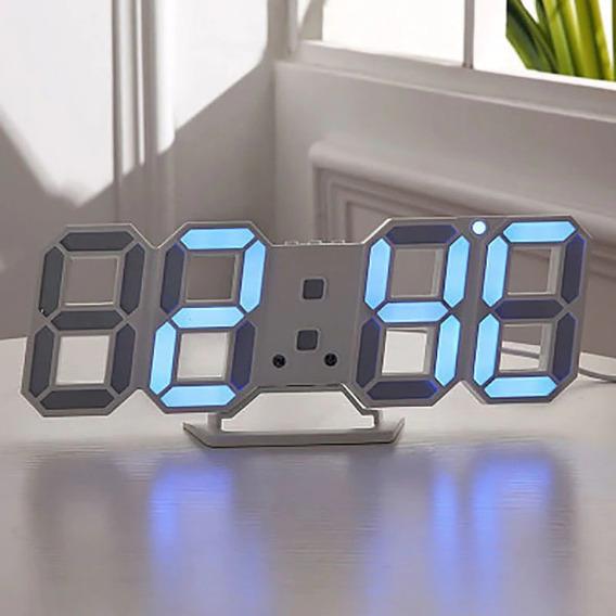 Relógio De Mesa E Parede Digital Led Com Alarme