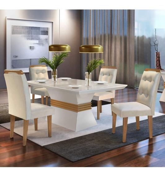 Sala Jantar 4 Cadeiras Luísa Siena Móveis Veludo J