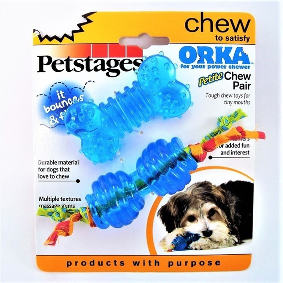 Brinquedo Mordedor Para Filhote Cachorro 2 Peças Pró Saúde