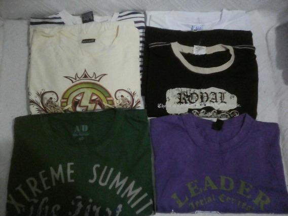 Camisetas Manga Longa Usadas Lote De 06