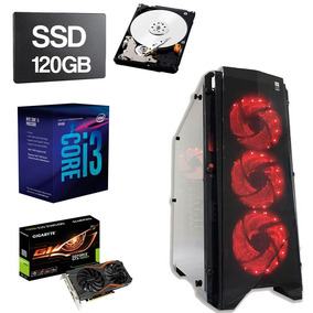 Gamer Intel Core I3 8100 3.6 8gb Ddr4 120gb 1tb 1050ti 4gb
