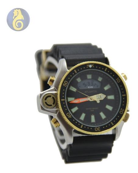 Relógio Masculino Social Couro Quartz Analolico Barato Inox