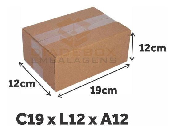100 Caixas De Papelão Dº3 - 19x12x12 Cm - P/ Artesanato
