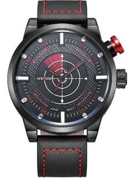 Relógio Masculino Weide Analógico Wh-5201 Preto E Vermelho
