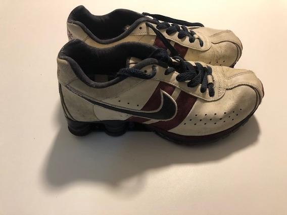 Tenis Nike Shox R4 Obdsidian Medieval Couro Envelhecido