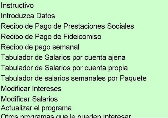 Cálculo Prestaciones Sociales Construcción Agosto 2019
