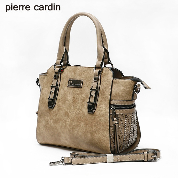 Cartera Pierre Cardin 26360 Símil Cuero C/microtachas Camel
