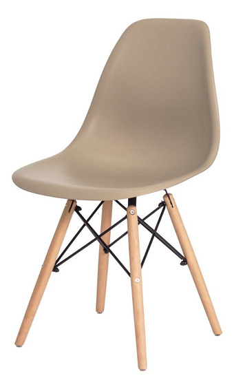 Cadeira Para Sala Mesa De Jantar Charles Eiffel Eames Wood