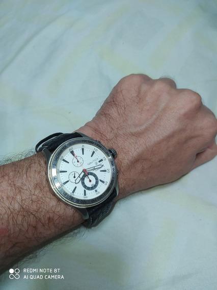 Relógio Náutica N15570 Cronograph 100mts C/brinde Relógio