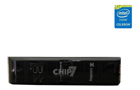 Mini Pc Itautec Infoway Intel Atom, 4gb Ddr3, Hd 500gb