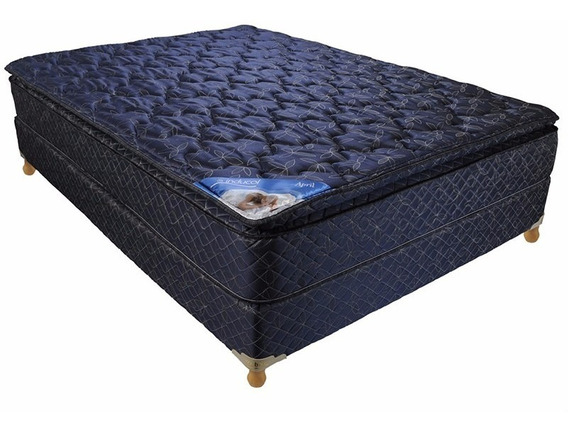 Conjunto Somier 2p Inducol April 140 X 190 Pillow Top
