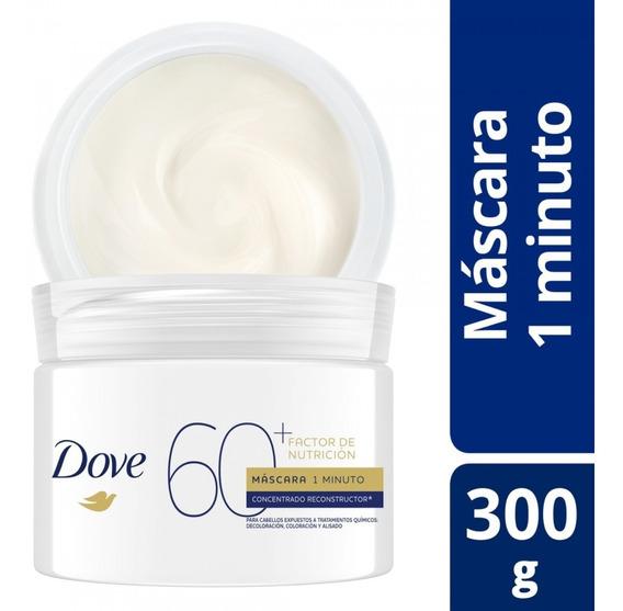 Mascara Tratamiento Dove Factor Nutricion 60+ 1min 300gr
