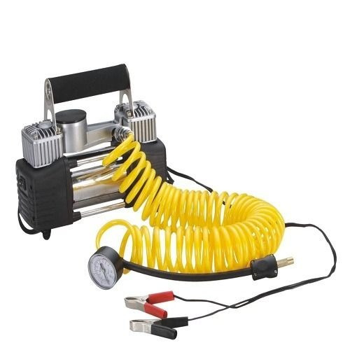 Compressor Ar Portatil Prata Veicular 12v Pneu Carro
