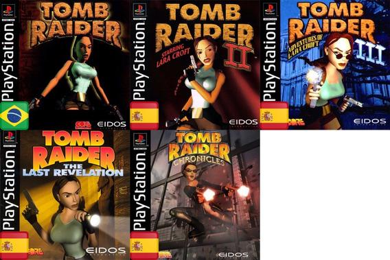 Promoção Coleção 5 Jogos Tomb Raider Ps1 Patch
