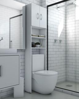 Armário Multiuso Para Banheiro Com 2 Portas Mdp