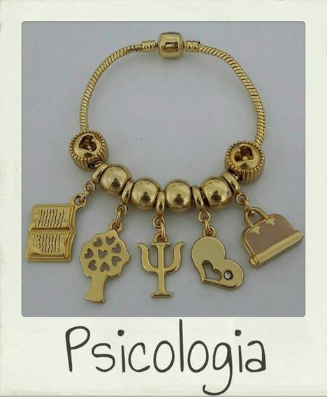 Pulseira Pandora Folheada Profissões Profissão Psicologia