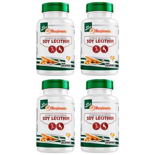 Soy Lecithin Lecitina De Soja - 4x 120 Cápsulas - Melcoprol