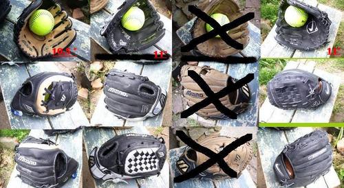 Guantes Softbol / Beisbol, Cuero 100%, 10.5  Y 11