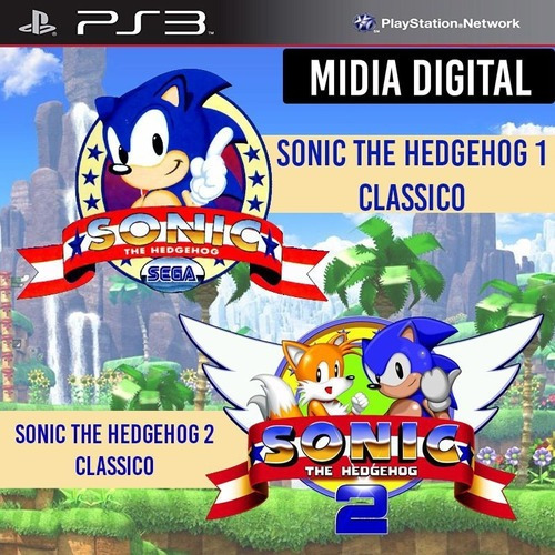 Sonic The Hedgehog 1 E 2 Classico - Ps3 Psn*