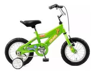 Bicicleta Infantil Olmo Rodado 12 Pets Verde