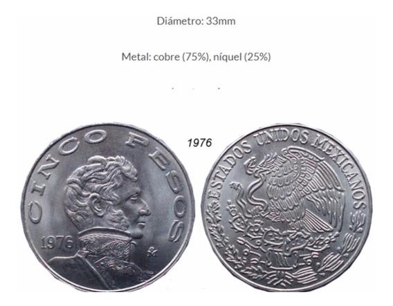 Coleccion Moneda Cinco Pesos Allende 1971 A 1978 A1 2