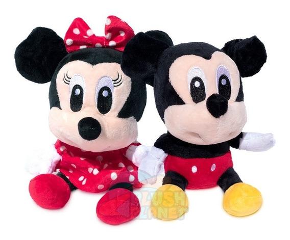 Pelúcia Mini Mickey E Minnie - 23cm