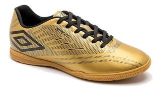 Chuteira Tênis Futsal Umbro Indoor Speed Iv Dourado/preto 10698