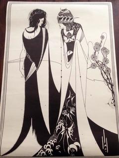 Póster Vintage Año 1971 Impreso Inglaterra Aubrey Beardsley