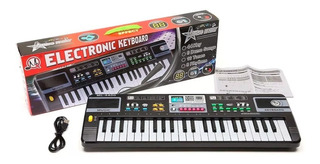 Órgano Eléctrico Piano Infantil Juguete Microfono Musica