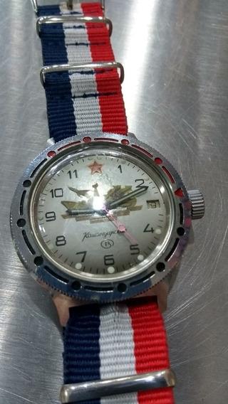 Relógio Russo Automático Coroa Rosca Diver