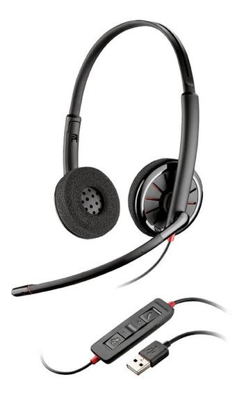 Headset Estéreo Plantronics Fone Blackwire Usb - C320-m