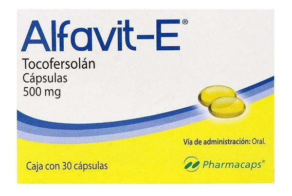 Vitamina E 500mg Con 30 Gelcaps - Antioxidante