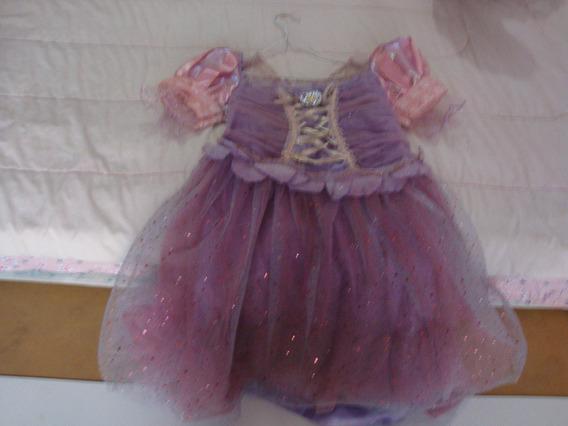 Bello Vestido Disfraz De Rapunzel