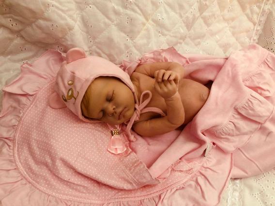 Boneca Bebê Reborn Autentica Sarah Corpo Inteiro