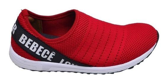 Tênis Feminino Casual Love Shoes Summer Bebecê Vermelho