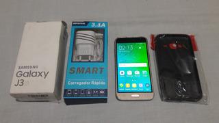 Celular Samsung Galaxy J3 Dual + Acessórios -ler Descrição.