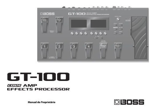 Manual Do Proprietário Do Gt-100 Boss