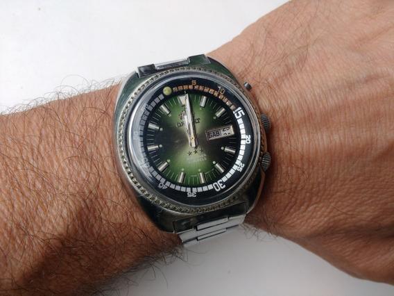Relógio Orient Kd Automático Antigo King Diver Verde Lindo